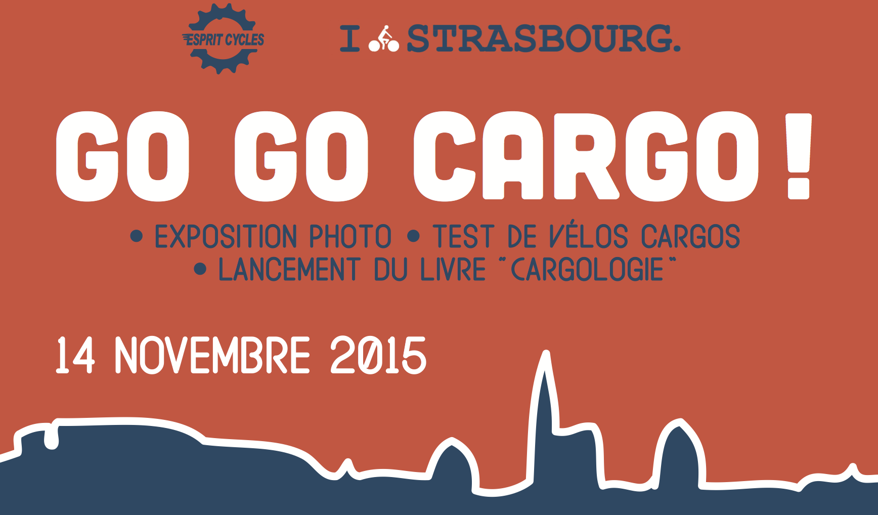 Affiche du Go Go Cargo, evenement Esprit Cycles